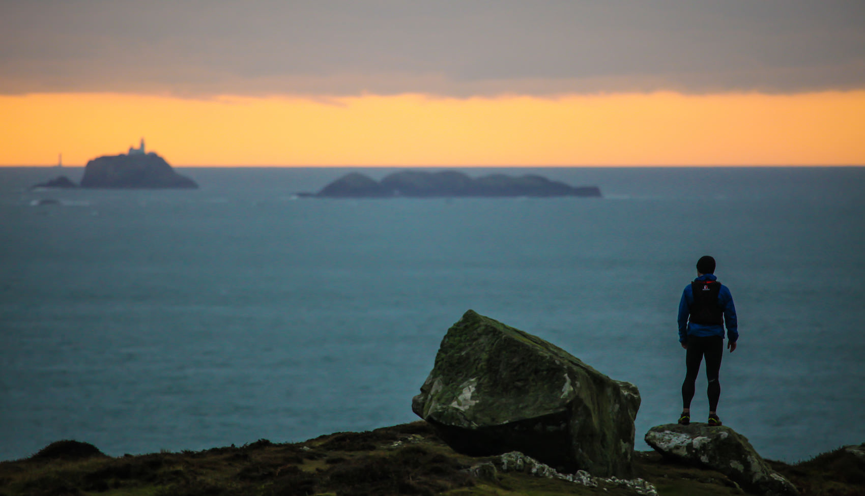 Taking it all in on St David's Head