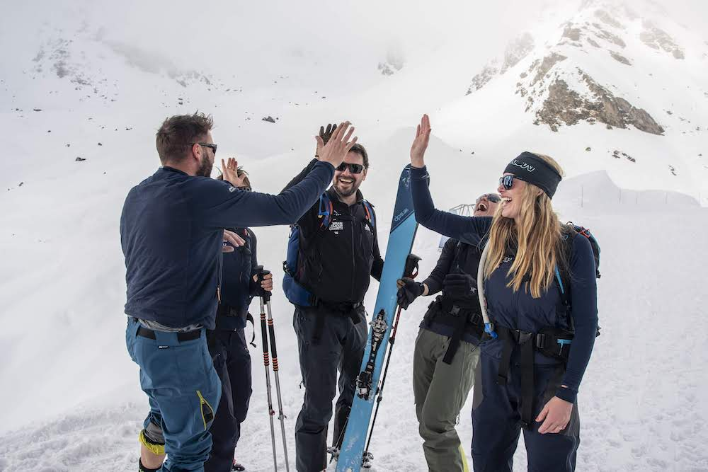 Teams celebrate, Ski Touring, Everest in the Alps